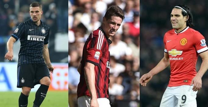 Lukas Podolski, Fernando Torres Dan Radamel Falcao